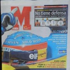 Coleccionismo deportivo: DIARIO MARCA - FERNANDO ALONSO - PRIMER ESPAÑOL GANADOR GRAN PREMIO FORMULA UNO F1 HUNGRIA 2003 . Lote 72022851