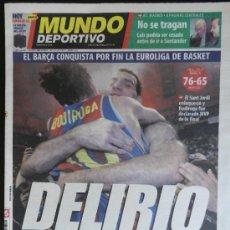Coleccionismo deportivo: MUNDO DEPORTIVO FC BARCELONA CAMPEON EUROLIGA BALONCESTO - BARÇA PRIMERA FINAL FOUR BASKET 2003 . Lote 35530116