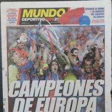 Coleccionismo deportivo: DIARIO MUNDO DEPORTIVO BARÇA CAMPEON CHAMPIONS LEAGUE 2005/2006 PARIS FC BARCELONA ARSENAL 2006. Lote 35530797