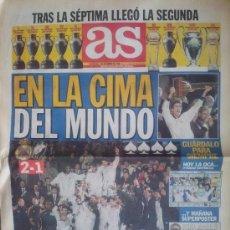 Coleccionismo deportivo: DIARIO AS REAL MADRID CAMPEON DE LA COPA INTERCONTINENTAL 1998 VASCO DA GAMA -. Lote 35530936