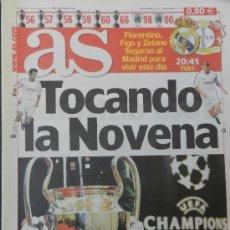 Coleccionismo deportivo: DIARIO AS PREVIO FINAL REAL MADRID BAYER LEVERKUSEN CHAMPIONS LEAGUE 2001/2002 LA NOVENA 2002 . Lote 35531518