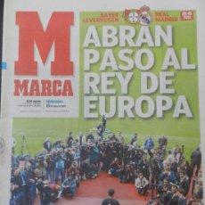 Coleccionismo deportivo: DIARIO MARCA PREVIO FINAL REAL MADRID BAYER LEVERKUSEN CHAMPIONS LEAGUE 2001/2002 LA NOVENA 2002 . Lote 35531561