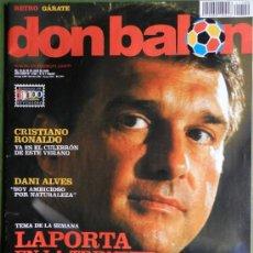 Coleccionismo deportivo: DON BALON 2008 - LAPORTA DANI ALVES - FC BARCELONA - CRISTIANO RONALDO - JOSEBA LLORENTE GARATE . Lote 35563455