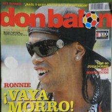 Coleccionismo deportivo: DON BALON 2008 - RONALDINHO - CRISTIANO RONALDO -PIRES - GUERRON - COUPET - CARVALHO - ZAMBROTTA . Lote 35563581
