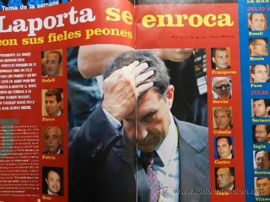 Coleccionismo deportivo: DON BALON 2008 - LAPORTA DANI ALVES - FC BARCELONA - CRISTIANO RONALDO - JOSEBA LLORENTE GARATE - Foto 2 - 35563455