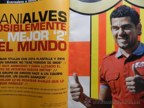 Coleccionismo deportivo: DON BALON 2008 - LAPORTA DANI ALVES - FC BARCELONA - CRISTIANO RONALDO - JOSEBA LLORENTE GARATE - Foto 3 - 35563455