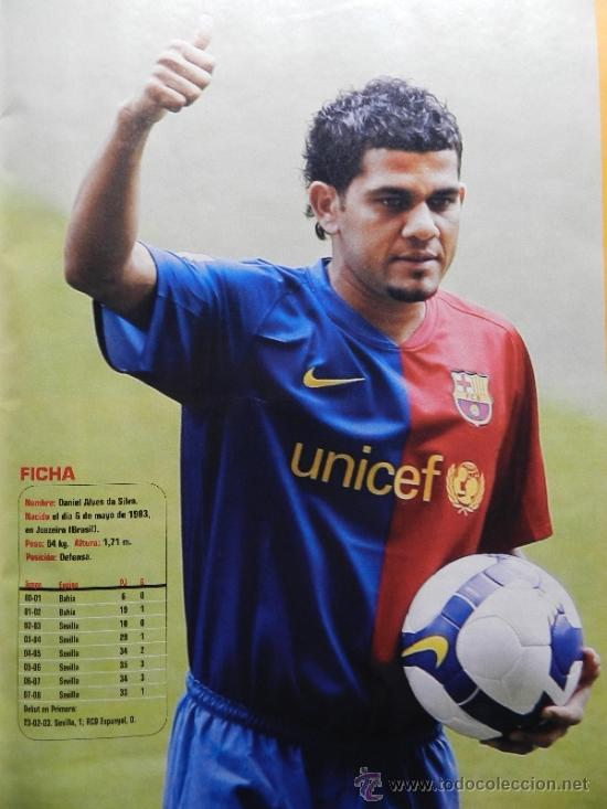 Coleccionismo deportivo: DON BALON 2008 - LAPORTA DANI ALVES - FC BARCELONA - CRISTIANO RONALDO - JOSEBA LLORENTE GARATE - Foto 4 - 35563455