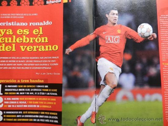 Coleccionismo deportivo: DON BALON 2008 - LAPORTA DANI ALVES - FC BARCELONA - CRISTIANO RONALDO - JOSEBA LLORENTE GARATE - Foto 5 - 35563455