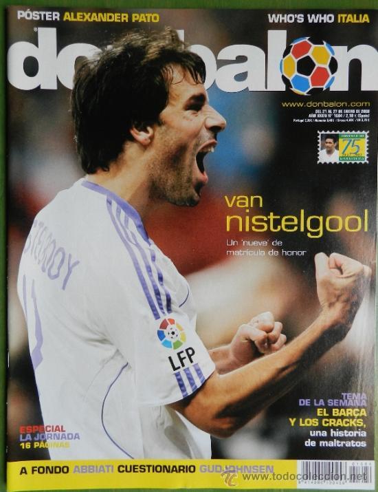 DON BALON 2008 - GUDJOHNSEN FC BARCELONA - ABBIATTI ATLETICO - VAN NISTELROOY REL MADRID RACING (Coleccionismo Deportivo - Revistas y Periódicos - Don Balón)