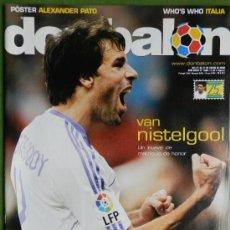 Coleccionismo deportivo: DON BALON 2008 - GUDJOHNSEN FC BARCELONA - ABBIATTI ATLETICO - VAN NISTELROOY REL MADRID RACING . Lote 35613965
