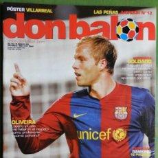 Coleccionismo deportivo: DON BALON 2007 GUDJOHNSEN FC BARCELONA - OLIVEIRA - SOLDADO OSASUNA - KOPA PLATINI - ANGEL CELTA . Lote 35681316