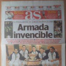 Coleccionismo deportivo: DIARIO AS ESPAÑA CAMPEON PRIMERA COPA DAVIS 2000 - TENIS FERRERO COSTA CORRETJA - BARCELONA - . Lote 35794264
