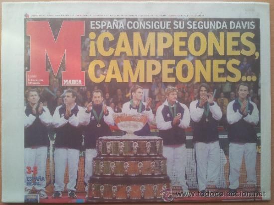 DIARIO MARCA ESPAÑA CAMPEON SEGUNDA COPA DAVIS 2004 - TENIS NADAL FERRERO MOYA - CARTUJA SEVILLA (Coleccionismo Deportivo - Revistas y Periódicos - Marca)