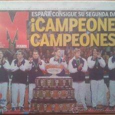 Coleccionismo deportivo: DIARIO MARCA ESPAÑA CAMPEON SEGUNDA COPA DAVIS 2004 - TENIS NADAL FERRERO MOYA - CARTUJA SEVILLA . Lote 35794312