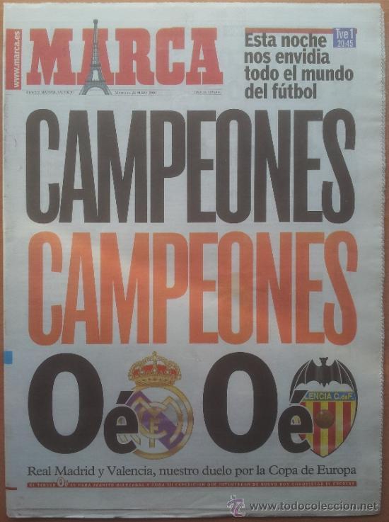 gran descuento verdadero negocio diseño exquisito Diario marca previa final champions league 2000 - Vendido en ...