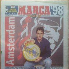 Coleccionismo deportivo: DIARIO MARCA PREVIA FINAL CHAMPIONS LEAGUE 98 REAL MADRID CAMPEON SEPTIMA COPA EUROPA JUVENTUS 1998. Lote 35794490