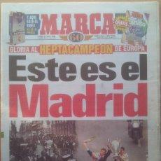 Coleccionismo deportivo: DIARIO MARCA CELEBRACION REAL MADRID CAMPEON SEPTIMA COPA EUROPA 1998 - CHAMPIONS LEAGUE 98 -. Lote 35794550