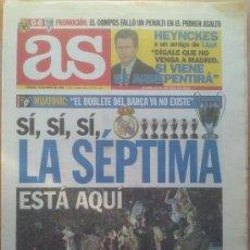 Coleccionismo deportivo: DIARIO AS CELEBRACION REAL MADRID CAMPEON SEPTIMA COPA EUROPA 1998 - CHAMPIONS LEAGUE 98 - . Lote 35794564