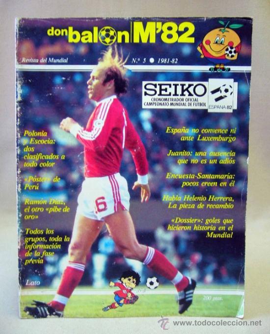 REVISTA DE FUTBOL, DON BALON, M82, MUNDIAL 82, Nº 5, GRADESA, POSTER CENTRAL SELECCION PERU (Coleccionismo Deportivo - Revistas y Periódicos - Don Balón)