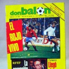 Coleccionismo deportivo: REVISTA DE FUTBOL, DON BALON, FEBRERO 1985, Nº 485, GRADESA, POSTER CENTRAL ROLANDO BARRERA. Lote 35788916