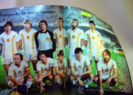 Coleccionismo deportivo: REVISTA DE FUTBOL, DON BALON, M82, MUNDIAL 82, Nº 7, GRADESA, POSTER CENTRAL SELECCION BELGICA - Foto 2 - 35784018