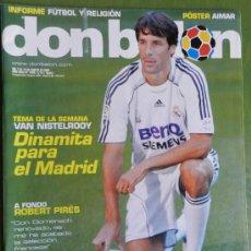 Coleccionismo deportivo: DON BALON 2006 VAN NISTELROOY-ARBELOA DEPORTIVO-PIRES VILLARREAL-MONTIEL-PUÑAL OSASUNA-CAMACHO-. Lote 36202416