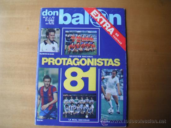 REVISTA DON BALON Nº 323 . EXTRA. PROTAGONISTAS 81. DEL 15 AL 21.12.81 (Coleccionismo Deportivo - Revistas y Periódicos - Don Balón)