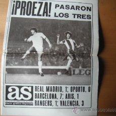 Coleccionismo deportivo: PERIODICO AS. PROEZA EN EUROPA. 08.11.1979. Lote 36308692