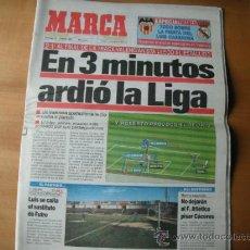 Coleccionismo deportivo: PERIODICO MARCA. EN 3 M. ARDIO LA LIGA. 19.01.1992. Lote 36309548