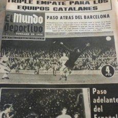 Collezionismo sportivo: MUNDO DEPORTIVO(17-2-69) LIGA 1ª DIV-VALENCIA 2 ESPAÑOL 2 Y BARÇA 1 ELCHE 1-FOTOS.. Lote 36458469