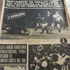 Coleccionismo deportivo: MUNDO DEPORTIVO-(17-8-1969)-BARÇA ELIMINA RIVER PLATE COSTA DEL SOL,SADURNI FIGURA,HOY CORINTHIANS. Lote 265577074