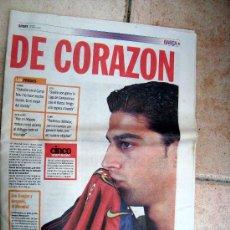 Coleccionismo deportivo: SUPLEMENTO PRENSA, PERIODICO, DIARIO, SPORT 12-AGOSTO-2000 - DE CORAZON - BARÇA 5 - FUTBOL-BARCELONA. Lote 36686899