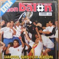 Coleccionismo deportivo: EXTRA DON BALON - REAL ZARAGOZA CAMPEON DE LA RECOPA 1995 - RECAMPEON - POSTER PLANTILLA -. Lote 36723672