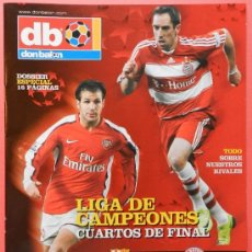 Coleccionismo deportivo: SUPLEMENTO DON BALON CHAMPIONS LEAGUE 2008/2009 - FC BARCELONA VILLARREAL CF CUADERNILLO 08/09 - . Lote 37048411