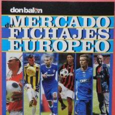 Coleccionismo deportivo: SUPLEMENTO DON BALON MERCADO DE FICHAJES EUROPEOS 08/09 - MINI POSTER GUIZA 2008/2009 - . Lote 37049431
