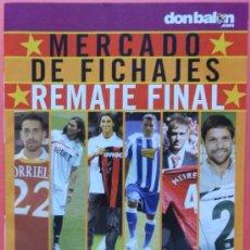 Coleccionismo deportivo: SUPLEMENTO DON BALON MERCADO DE FICHAJES 10/11 - MINI POSTER DUSCHER 2010/2011 - . Lote 37049489