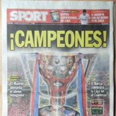 Coleccionismo deportivo: DIARIO SPORT BARÇA CAMPEON LIGA 12/13 - FC BARCELONA 2012/2013 CAMPEONES - . Lote 37210359
