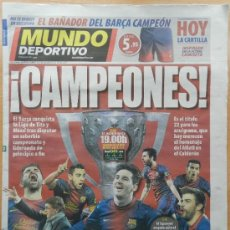 Coleccionismo deportivo: DIARIO MUNDO DEPORTIVO BARÇA CAMPEON LIGA 12/13 - FC BARCELONA 2012/2013 CAMPEONES - . Lote 37190263