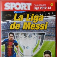 Coleccionismo deportivo: REVISTA EXTRA DIARIO SPORT FC BARCELONA CAMPEON LIGA 2012-2013 - ESPECIAL TITULO 12/13 MESSI BARÇA. Lote 130423640