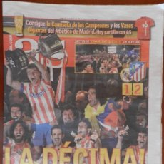 Coleccionismo deportivo: DIARIO AS - FINAL ATLETICO DE MADRID CAMPEON COPA DEL REY 2012-2013 - DECIMA ATLETI 12 13. Lote 37308225