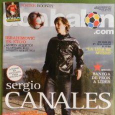 Coleccionismo deportivo: DON BALON 2010 CANALES RACING SANTANDER-ETOO-IBRAHIMOVIC-ADLER-CESAR DELGADO-DIEGO ALVES ALMERIA-. Lote 37361818