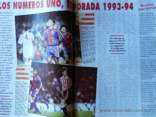 Coleccionismo deportivo: DON BALON 1994 FC BARCELONA-REAL MADRID-MATURANA ATLETICO DE MADRID-MOACIR SEVILLA-KARPIN-POSTER- - Foto 7 - 37376307