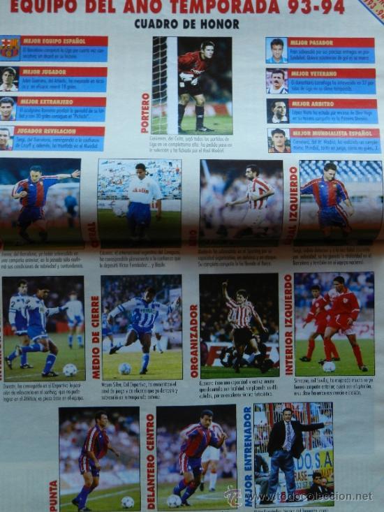 Coleccionismo deportivo: DON BALON 1994 FC BARCELONA-REAL MADRID-MATURANA ATLETICO DE MADRID-MOACIR SEVILLA-KARPIN-POSTER- - Foto 8 - 37376307