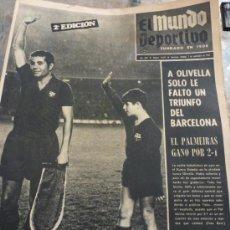Colecionismo desportivo: MUNDO DEPORTIVO(7-9-69) HOMENAJE A OLIVELLA.BARÇA-HAMBURGO. Lote 37405269