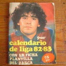 Colecionismo desportivo: CALENDARIO DE LA LIGA 82-83 SPORT CON LA FICHA PLANTILLA DEL BARÇA. Lote 37413524