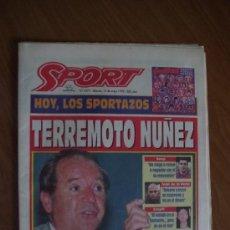 Coleccionismo deportivo: SPORT 1995 TERREMOTO NUÑEZ. Lote 37554307