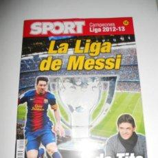 Coleccionismo deportivo: LA LIGA DE MESSI Y DE TITO DIARIO SPORT REVISTA FUTBOL CAMPEON F.C. BARCELONA 2012 2013 12 13 . Lote 37555524