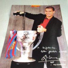 Coleccionismo deportivo: BARÇA CAMPIONS 97-98. SPORT . 25 LAMINAS.. Lote 37660184