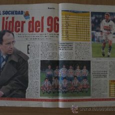 Coleccionismo deportivo: HOJA REPORTAJE REAL SOCIEDAD EL LIDER DEL 96 DIARIO SPORT. Lote 37935640