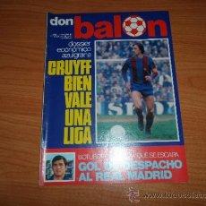 Coleccionismo deportivo: DON BALON Nº 67 ENERO 1977 REPORTAJE COLOR RENSENBRINCK ANDERLETCH BARCELONA CAMPEON DE INVIERNO . Lote 38381928